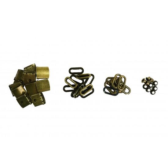 Brass Buckle Sets (10 Sets)