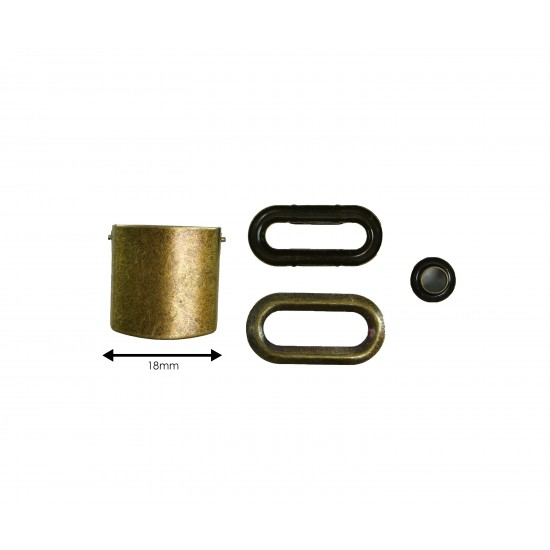 Brown Leather and Brass Buckle Cap Making Kit