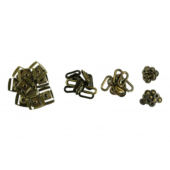 Brass Clasp Buckle Sets (10 Sets)