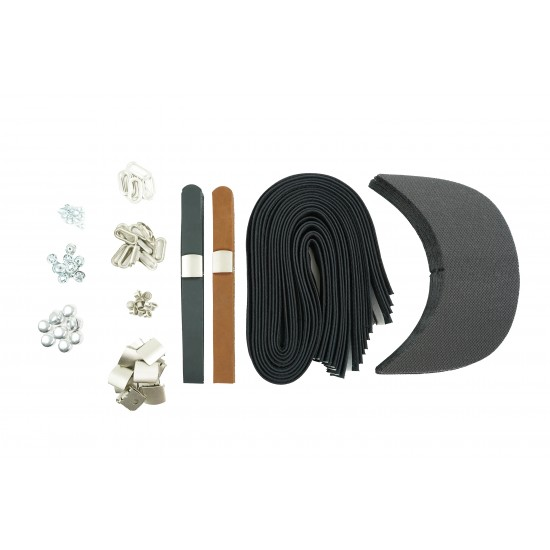 Black Brown Leather and Silver Buckle Cap Making Kit