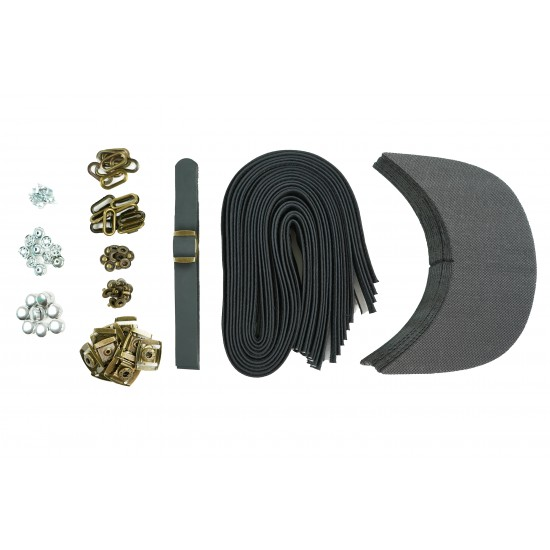 Black Leather and Brass Clasp Buckle Cap Making Kit