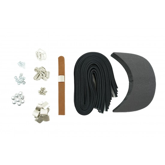 Brown Leather and Silver Buckle Cap Making Kit