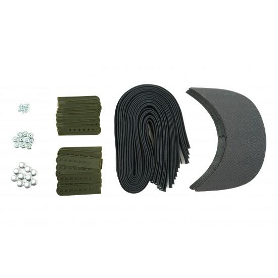 Army Green Plastic Snapback Cap Making Kit (10 Kit)