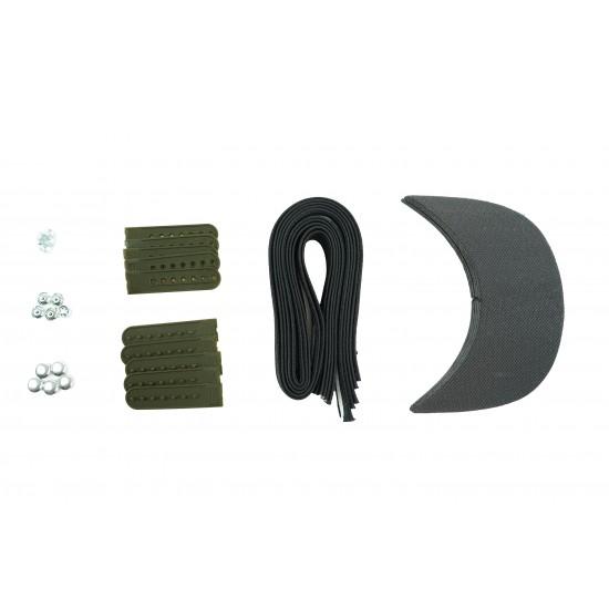 Army Green Plastic Snapback Cap Making Kit (5 Kit)