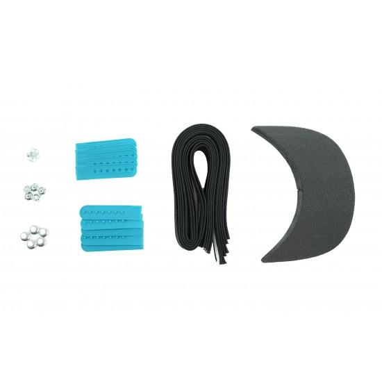 Barbie Blue Plastic Snapback Cap Making Kit (5 Kit)