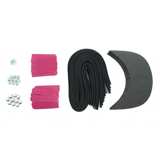 Barbie Pink Plastic Snapback Cap Making Kit (10 Kit)