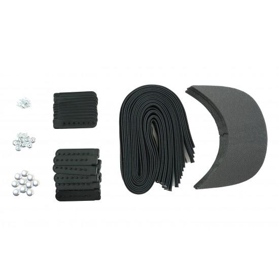 Black Plastic Snapback Cap Making Kit (10 Kit)