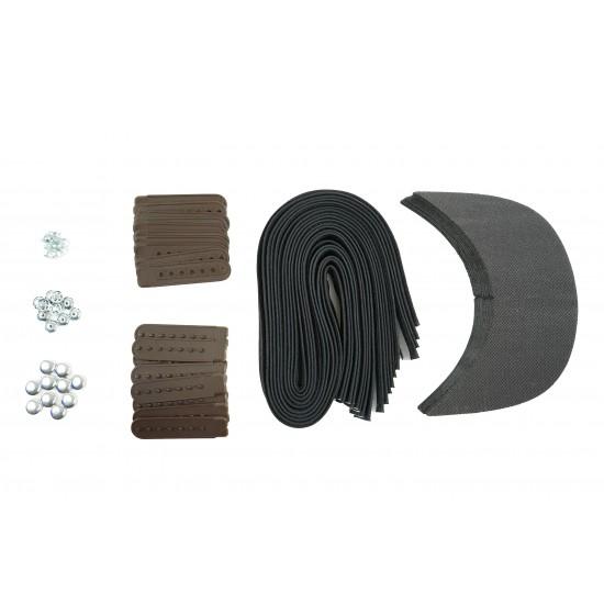 Brown Plastic Snapback Cap Making Kit (10 Kit)