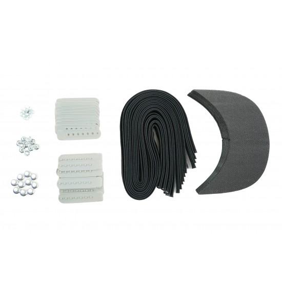 Grey Plastic Snapback Cap Making Kit (10 Kit)