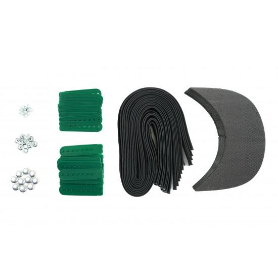 Kelly Green Plastic Snapback Cap Making Kit (10 Kit)