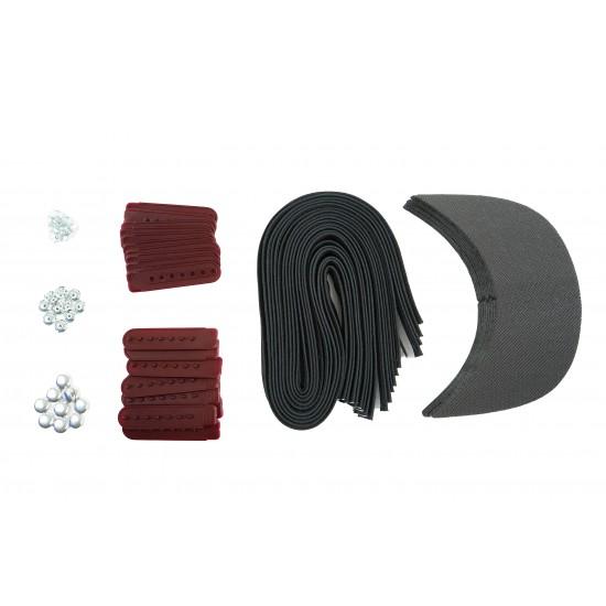 Maroon Plastic Snapback Cap Making Kit (10 Kit)