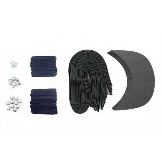 Navy Blue Plastic Snapback Cap Making Kit (10 Kit)