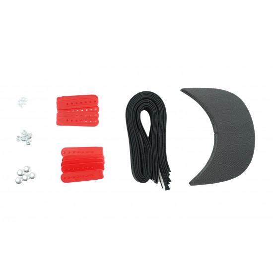 Red Plastic Snapback Cap Making Kit (5 Kit)