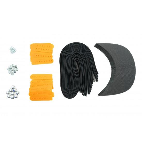 Yellow Plastic Snapback Cap Making Kit (10 Kit)