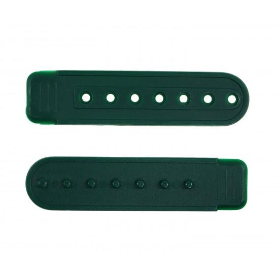 Forest Green Plastic Snapback Straps (10 Set)